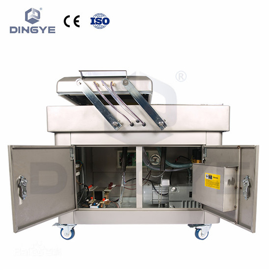 Double-chamber vacuum(gas filling) packager